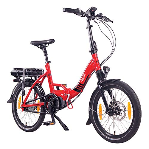 "NCM Paris MAX N8R E-Bike, E-Faltrad, 250W, 36V 14Ah 504Wh Akku, 20"" Zoll (Rot mit Rollenbremse (N8R))*"