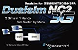 2-phones-in-1® 2in1-NC2S7E Dual SIM Adapter für Samsung Galaxy S7 Edge
