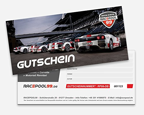 1000 € Erlebnisgutschein für Selber Fahren / Renntaxi im Rennwagen: Porsche 911 GT3, BMW Superbike, u. a. auf Rennstrecke