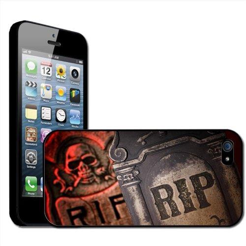 Fancy A Snuggle Hartschale/Schutzhülle, Motiv RIP - Rest in Peace/Halloween Grabstein, aufsteckbar, für Apple iPhone 5