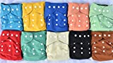 10 Pack Pocket Charcoal Bamboo Cloth Dia...