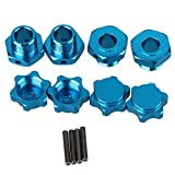 BQLZR 17mm Blau RC 1: 8 T10061 Aluminum Alloy Felge Hex Hub Mutternkappen Pin Set Fuer Largefoot Car Auto Tuningteile 4er Pack