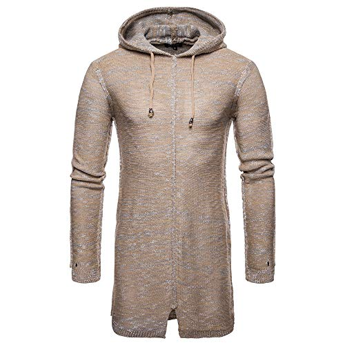 Herren Strickpullover,TWBB Einfarbig Warme Pullover Hoodie Kapuzenpullover Falten Winter Mantel Outwear Hemd Lange Ärmel Sweatshirt