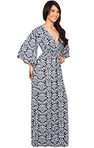 KOH KOH® Damen Elegante Cocktail mit VAusschnitt Kimono Cocktail ...