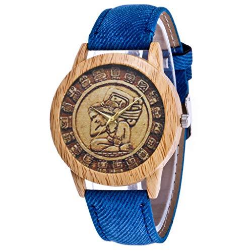 IG Invictus Damen Mode Casual Lederstrap Analog Quarz Runde Uhr T47 N Quarzuhr Blaue Quarz Uhr