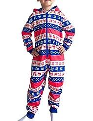 6491401a294e4 BESBOMIG Pyjamas de Fête du Festival Assortis Elf Garçons Filles