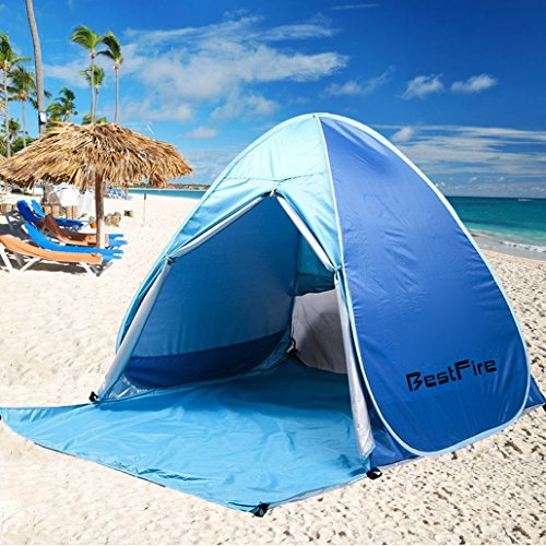BestFire Outdoor Automatic Pop up Instant Portable Cabana Beach Tent ... : shade beach tent - memphite.com