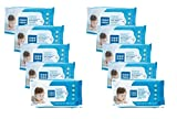 #5: Mee Mee Caring Baby Wet Wipes with Lemon Fragrance - 72 pcs (Pack of 10)