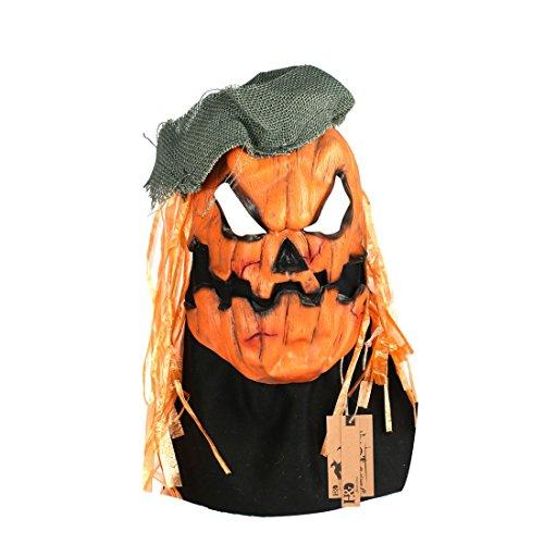 hyalinität & Dora Herren-Latex-Scary Kürbis Kopf (Erwachsene Kostüm Dora Halloween Für)