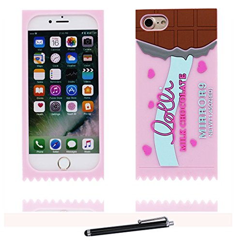 iPhone 7 Plus Custodia, iPhone 7 Plus Copertura 5.5, TPU durevole Case Cartoon 3D Cover & penna di tocco - Cartoon Pig maiale orso bear Cute / Flessibile / alla moda / resistente alla polvere # 9