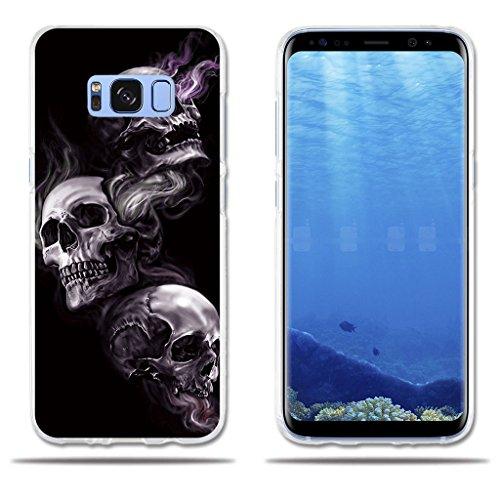 """fubaoda Funda Samsung Galaxy S8 Plus Dibujo Artistico con 3 Cráneos,Amortigua los Golpes, Funda Protectora Anti-Golpes para Samsung Galaxy S8 Plus (2017) (6.2"""")"""