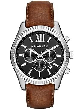 Micheal Kors Herren-Armbanduhr Analog Quarz Leder MK8456