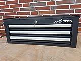 Werkzeugschrank ★ Werkzeugkoffer - Werkzeugkiste mit 3 Schubladen ★ Schwarz MATT