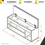 RICOO Sitzbank mit Schuhregal Sitzfläche Aufk...Vergleich