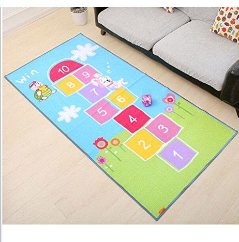 Pädagogische Spielmatte Kinderteppich Schlafzimmer Kinder Spielzimmer Spielmatte Schule Klassenzimmer Lernen Rutschfeste Rechteck Teppich, Zahlen,C,100 * 200CM -