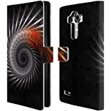 Official Sven Fauth Titan Silver Helix Leather Book Wallet Case Cover For LG G4 / H815 / H810