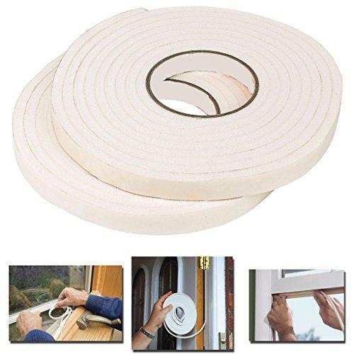 Guaranteed4Less Home Boudin de Porte fenêtre 9 Metre Rouleaux Vinyle Isolation en Mousse Bande d'étanchéité