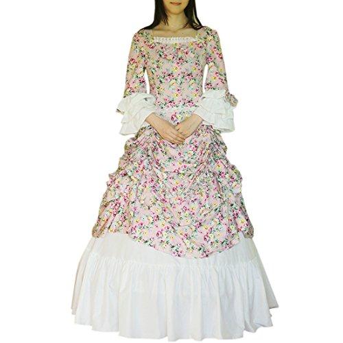 lle Lolita Kleider Gothic Viktorianisches Kleid Renaissance Maxi Kostuem Kleid Maskerade Gothic Lolita Kleid, Chinese XL, Flower (Chinesen Kostüm Frauen)