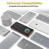 EasyAcc Monster 26000mAh Power Bank (4A Eingang 4.8A Smart Ausgang) Externer Akku Tragbares Ladegerät für Samsung Iphone HTC Tablets – Schwarz/ Orange - 5