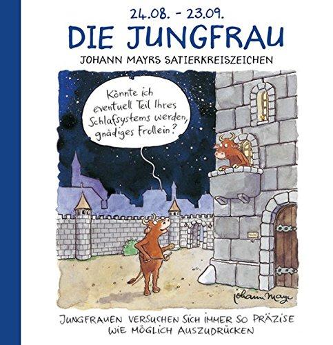 Die Jungfrau: Witziges Cartoon Sternzeichen-Geschenkbuch im Format 11,5 x 11,5 cm