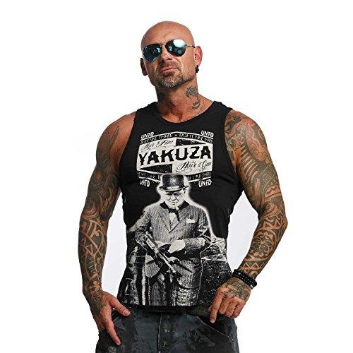 Yakuza Original Herren UNTD Tank Top T-Shirt (Top Ärmelloses Vintage Tank)