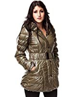 24brands - Damen Winterjacke Winter Jacken Mantel Mäntel Glanzjacke Steppmantel Steppjacke - 2370