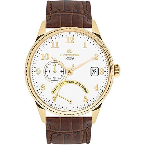 orologio solo tempo uomo Lorenz 1934 trendy cod. 030103CC