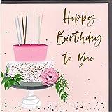 Belly Button Designs hochwertige Glückwunschkarte zum Geburtstag aus der neuen Elle Serie mit Prägung, Folie und Kristallen BE016