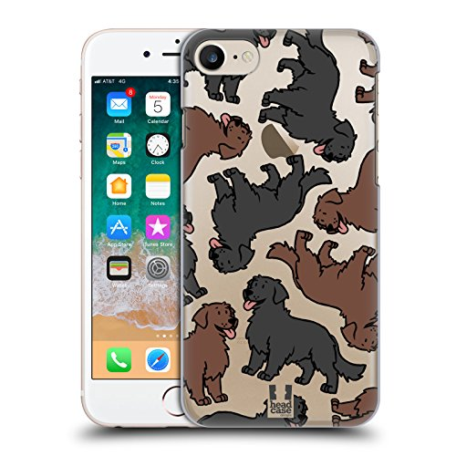 Head Case Designs Flat Coated Retriever Hunderassen Muster 11 Ruckseite Hülle für Apple iPhone 7 / iPhone 8 (Head Der Flat T-shirt,)