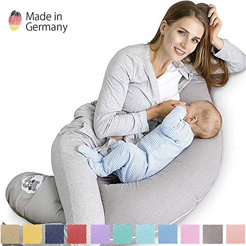 Sei Design Cuscino per allattamento 170 x 30 imbottitura microperle EPS prive di sostanze nocive piacevole al tatto come sabbia e leggero come piume