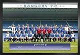 1art1 Fußball Poster und MDF-Rahmen - Glasgow Rangers,