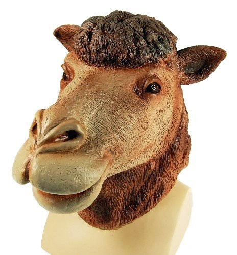 Camel Animal Zoo Overhead Rubber Adult Fancy Dress Mask by Parties Unwrapped