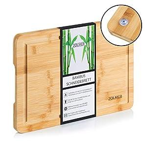 ZOLMER® Schneidebrett aus Bambusholz - 33 x 24 x 2 cm - Hochwertiges Cutting Board - Praktisches und stabiles Küchenbrett - Chopping Boards
