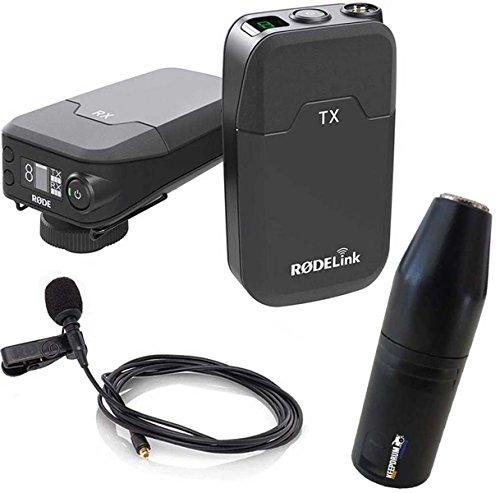 Rode, kit RodeLink per registrazione video, con radio microfono e sistema senza fili + adattatore Keepdrum ADP08da XLR a mini jack da 3,5mm