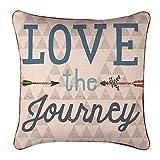 hylaea Lovely Cartoon Cartas de Amor sofá Simple de decoración para el hogar Diseño manta funda de almohada Decor fundas para cojín cuadrado 18* 18pulgada, tela, Multi2, 18