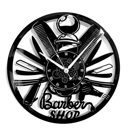 Instant Karma Clocks - Reloj de Pared de Vinilo, Idea de Regalo, Vintage, Hecho a Mano, para peluquería, peluquería o barbería