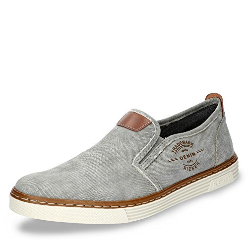 Rieker B4961, Baskets Enfiler Homme Gris (Grey/amaretto)