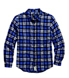 HARLEY-DAVIDSON Worn Plaid Flannel Shirt 96146-16VM Herren Shirt, blau, L