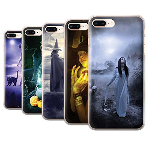 Officiel Elena Dudina Coque / Etui pour Apple iPhone 8 Plus / Vent/Orage/Forêt Design / Magie Noire Collection Pack 6pcs