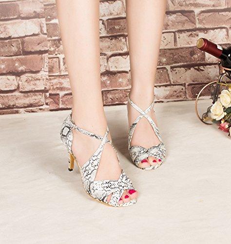Miyoopark De Dança Senhoras 8 5 Centímetros Sapatos Calcanhar Branco gTqzrgw