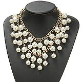 Halskette Collier Statement Two broke Perle Perlen Kette Caroline Occident Style Trend Frauen Mehrschicht Charms
