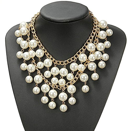 Halskette Collier Statement Two broke Perle Perlen Kette Caroline Occident Style Trend Frauen Mehrschicht Charms