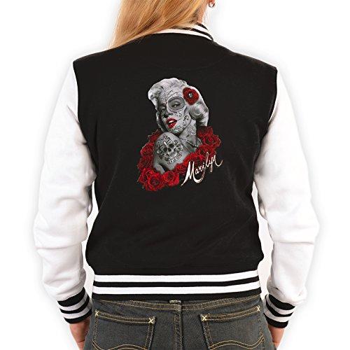 Stylische Retro-Damen-Jacke mit coolem Motiv - Marilyn Monroe - Oldschool - Modische und bequeme Sweatjacke Schwarz
