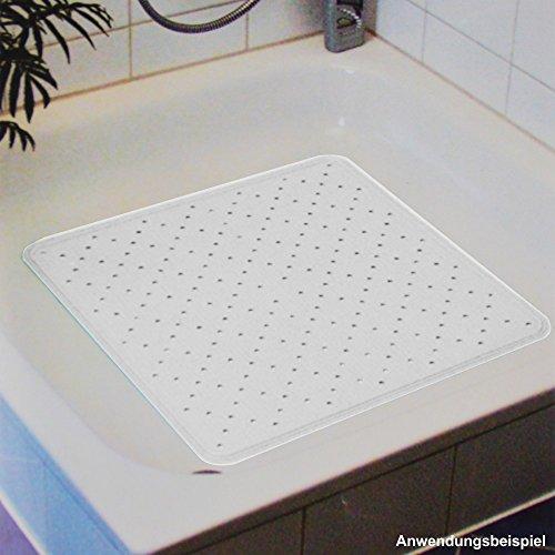Duschbeckeneinlage Gummi 51x51cm weiß Sicherheitsmatte