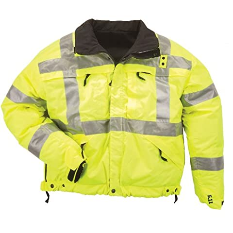 5.11 Tactical #48037 High-Visibility Reversible Jacket (Reflective Yellow, 3X-Large)