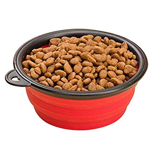 Japace® Ciotola Cane Pieghevole in silicone Impermeabile e Lavabile Mangiatoia Abbeveratoio per Cibo che per Acqua Diametro 13cm - Portatile Dog Bath