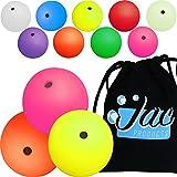 Set of 3 Jac Products 68mm DX Dream Juggling Balls (Yellow/Pink/Orange) & Cotton Travel Bag