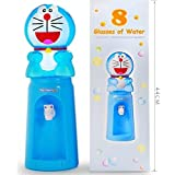 Funny Teddy Doremon Cartoon Shaped Mini Water Dispenser for Kids | Capacity@8 Glasses | Induces healthy habits of drinking water in kids