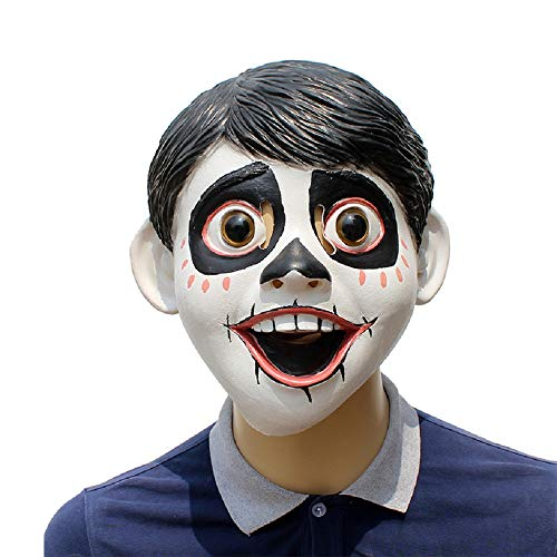 Skeleton Kostüm Boy - BaronHong Cosplay Maske Latex Helm Dekoration Thema Party Requisiten Halloween Kostüm Zubehör Erwachsene für Skeleton Boy (schwarz, M)