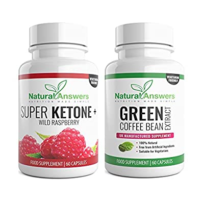 Raspberry Ketone Extract and Green Coffee Bean 800mg Fat Burner UK Made 120 Capsules by Natural Answers from Natural Answers